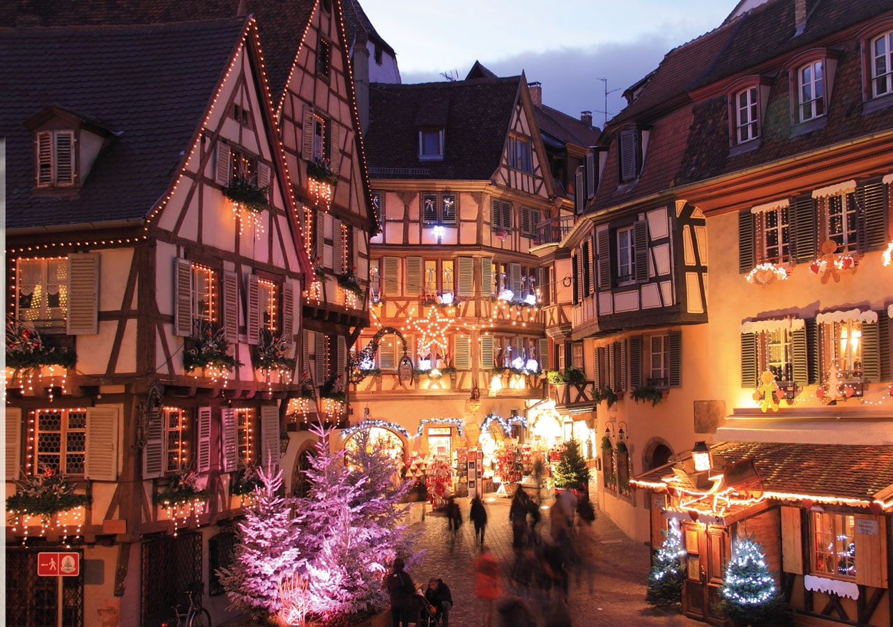 explore colmar in the white